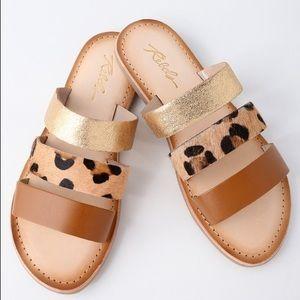Shoes - Jaylen Natural Leather Slide Sandals